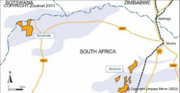 Limpopo mirror news another mine shows interest in the bernice and somerville projects are situated in the heart of south africas coal field just north of the soutpansberg mountain range sciox Choice Image